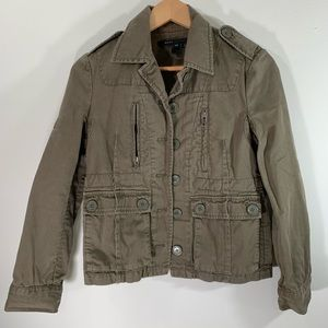 MARC JACOBS military jacket green distressed